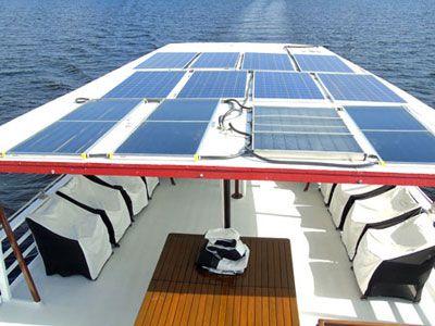 Solar Panels in the Amazon on the Motor Yacht Tucano