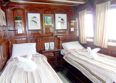 Yellow category stateroom on the Motor Yacht Tucano