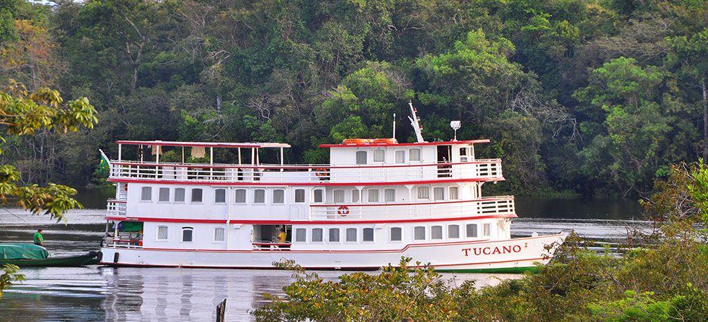 M/Y Tucano Cruising Amazon River