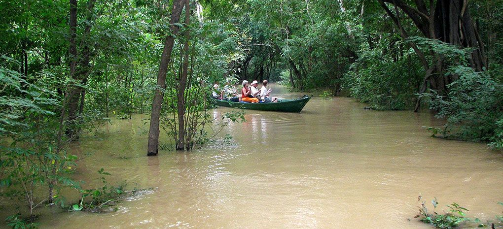 Tucano Launch Navigating Flooded Amazon Rainforest