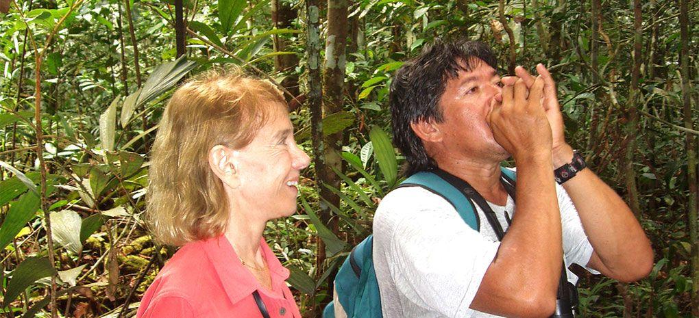Amazon Tour Guide Calling for Howler Monkeys