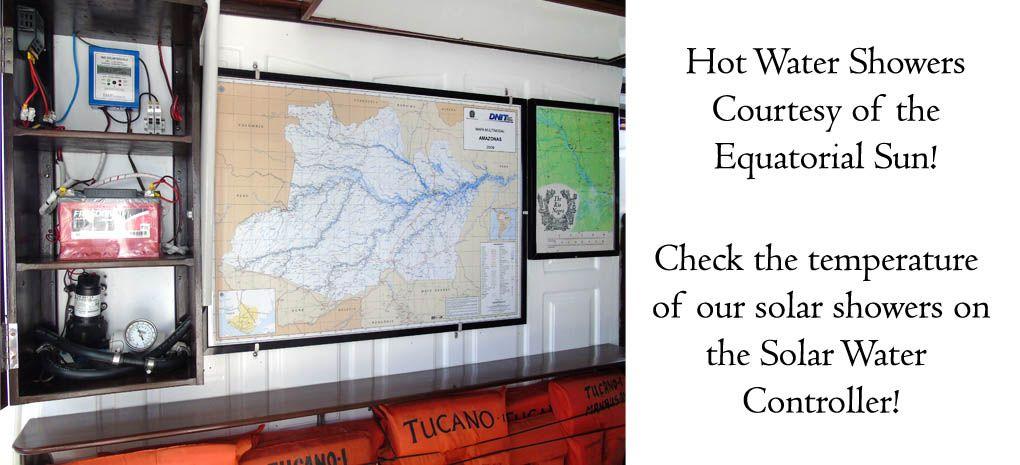 Solar Water Controller, MY Tucano, Amazon River Cruise