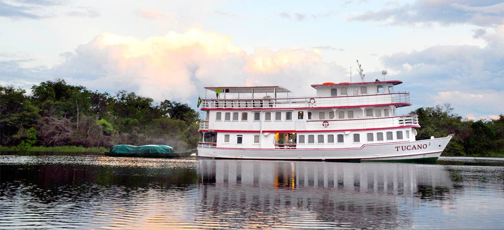 Motor Yacht Tucano on the Amazon River