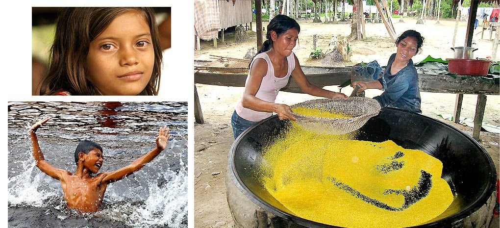 Amazon Rainforest Native Children and Women